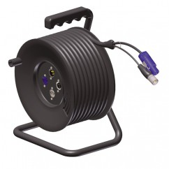 Adam Hall by Procab KCCRM603 - Cable Reel balanced Microphone / Powercon - 20m