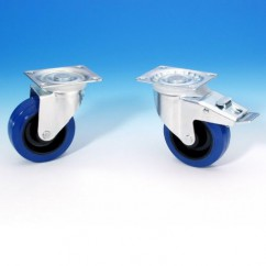 Adam Hall - Swivel castor 100 mm blue wheel