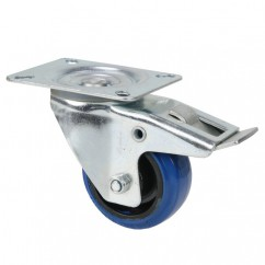Adam Hall - Castor 80 mm with Brake blue