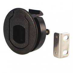 Adam Hall - Lever latch for service door black plastic
