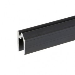 Adam Hall - Aluminium Hybrid Lid Location black for 9.5 mm Material