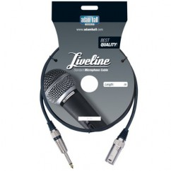 Adam Hall - Microphone Cable Liveline XLR male to 6.3 mm Jack mono - 10 m