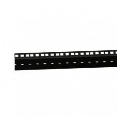 Adam Hall - 61555BLK - Heavy Duty Double Rack Strip Black 45 HE