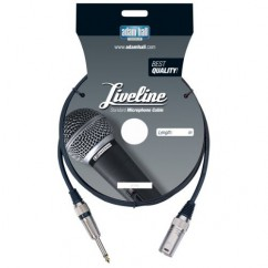 Adam Hall - Microphone Cable Liveline XLR male to 6.3 mm Jack mono - 6 m