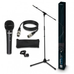 LD Systems - Microphone Set with Microphone, Stand, Cable and Clamp