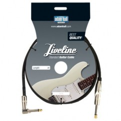 Adam Hall - Instrument Cable Liveline 6.3 mm Jack mono to 6.3 mm angled Jack mono - 9 m