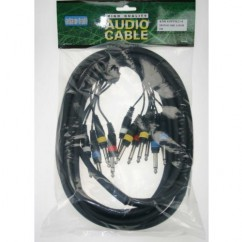 Adam Hall - Multicore Cable 4 x 6.3 mm Jack stereo to 8 x 6.3 mm Jack mono - 3 m
