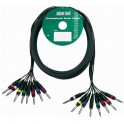 Adam Hall - Multicore Cable 8 x 6.3 mm Jack stereo to 8 x 6.3 mm Jack stereo - 3 m
