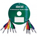 Adam Hall - Patch Cable Set 6.3 mm Jack stereo to 6.3 mm Jack stereo 0.9 m 6-colour
