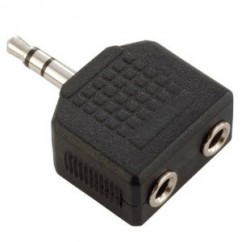 Adam Hall - Y-Adapter 2 x stereo Jack female to stereo Jack