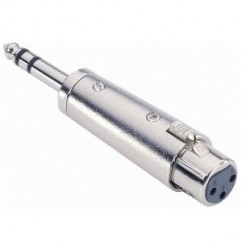 Adam Hall - Adapter 6.3 mm Jack stereo male to XLR female