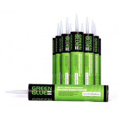 Green Glue -  Box of 12 Tubes of Green Glue Noiseproofing Compound