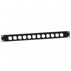 Adam Hall - U-shaped Rack Panel 1 U steel for 12 XLR