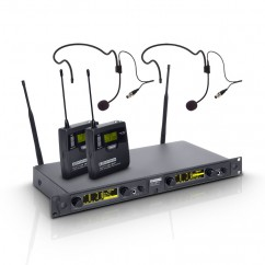 LD Systems - WIN 42 Series - Wireless Microphone System with 2 x Belt Pack and 2 x Headset
