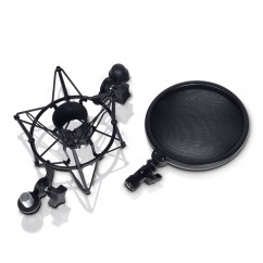 LD Systems - DSM 400 - Microphone Shock Mount with Pop Killer