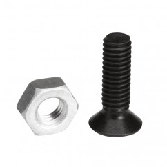 Adam Hall - Phillips-head Screw M3 x 10 black with Nut for XLR Sockets
