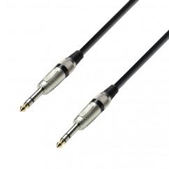 Adam Hall - K3BVV0300 - Câble Audio Jack 6,35 mm stéréo vers Jack 6,35 mm - 3.00 m
