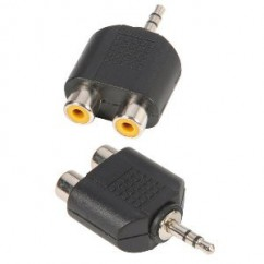 Adam Hall - Y-Connector 2 x mono RCA female to 3.5 mm stereo Jack male