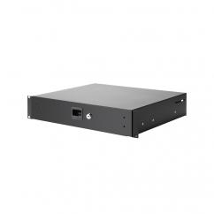 "Adam Hall - 87402A - 19"" Rack Drawer 2 U aluminium"