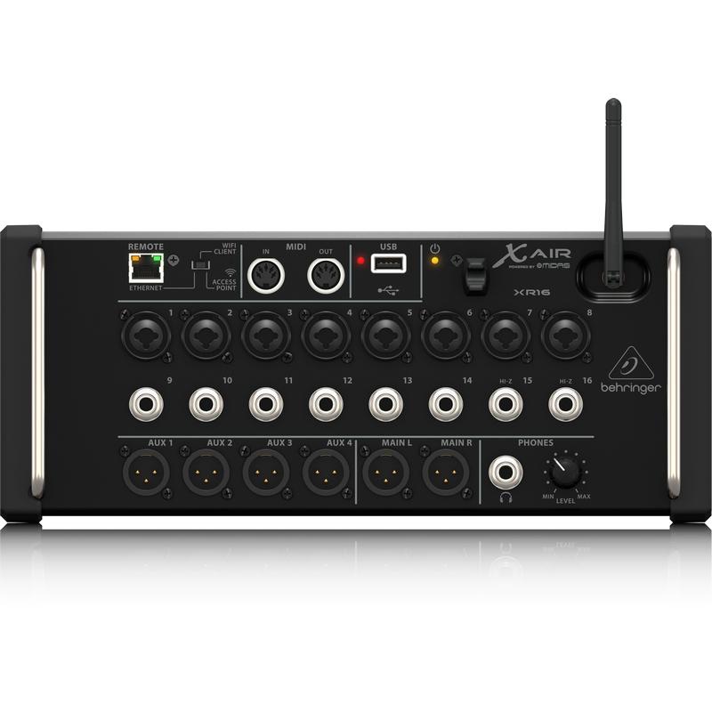 Behringer xr16 en vente chez global audio store console numerique - Console numerique behringer ...