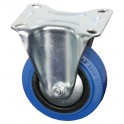 Adam Hall - Hardware 37141 - Bockrolle 100 mm mit blauem Rad