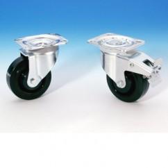 Adam Hall - Double-action brake green wheel - 100 mm