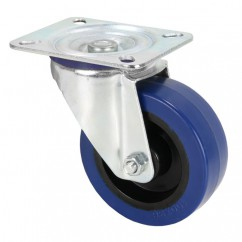 Adam Hall - Swivel Castor 100 mm Blue