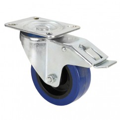 Adam Hall - Swivel castor 100 mm with brake blue