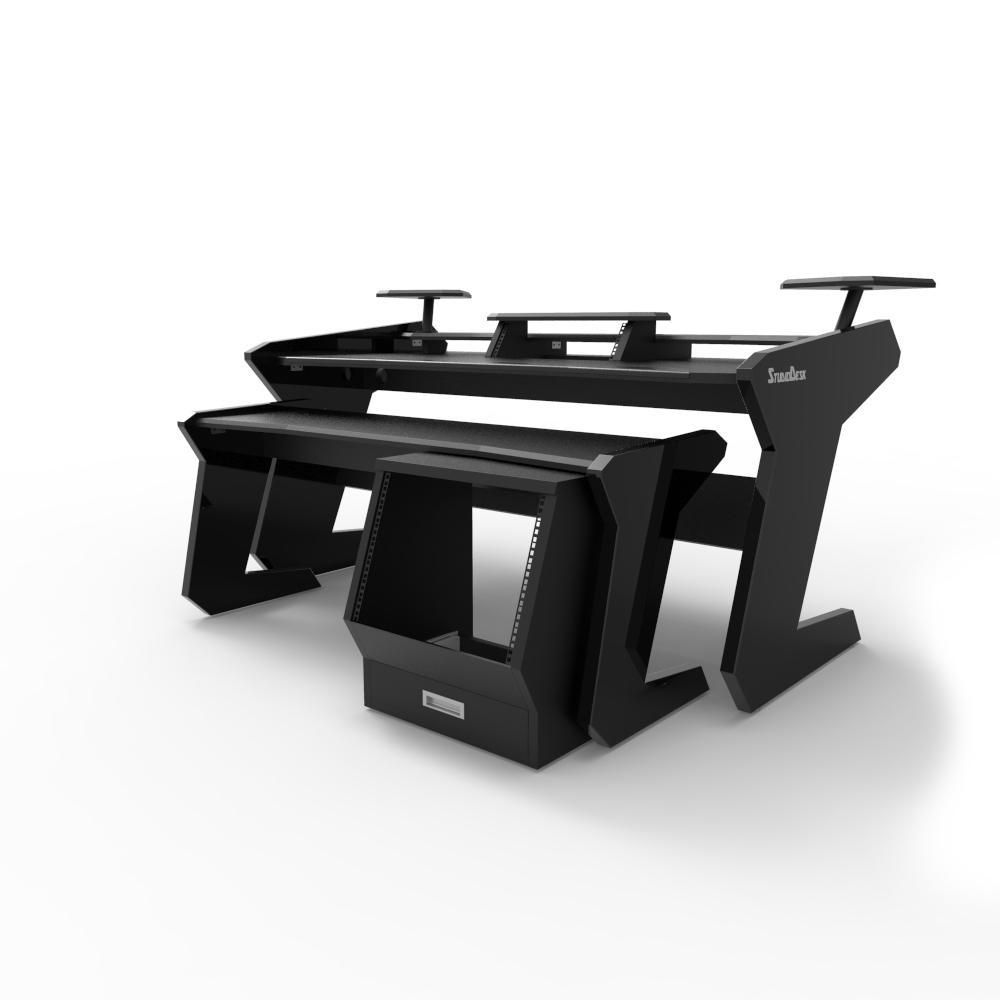 Studiodesk enterprise desk full set all black studio furniture 13223 1990 00 global audio store 0 preorder