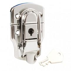Adam Hall - Heavy drawbolt with lock chrome