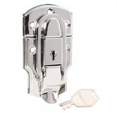Adam Hall - Locking drawbolt, Chrome plated steel