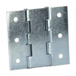Adam Hall - Double hinge, 1,5mm Steel, zink