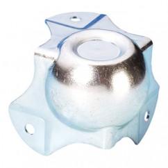 Adam Hall - Medium ball corner , zinc plated