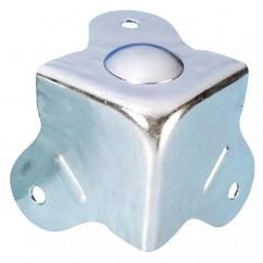 Adam Hall - Case corner+integral foot zinc plated