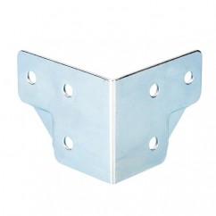 Adam Hall - Large cranked corner zinc plated 1,2mm