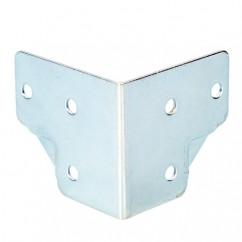 Adam Hall - Large cranked corner zinc plated 1,2 mm