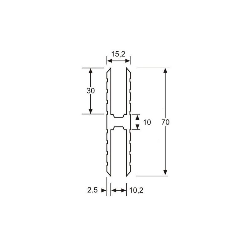 adam hall profil aluminium en h heavy duty pour jonction de panneaux mat riau 10 mm en vente. Black Bedroom Furniture Sets. Home Design Ideas
