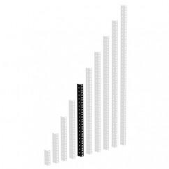 Adam Hall - 61535B10 - Heavy Duty Rack Strip Black 2 mm, 10U