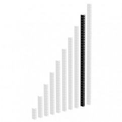 Adam Hall - 61535B18 - Heavy Duty Rack Strip Black 2 mm, 18U