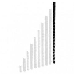 Adam Hall - 61535B20 - Heavy Duty Rack Strip Black 2 mm, 20U