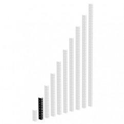 Adam Hall - 61535B4 - Heavy Duty Rack Strip Black 2 mm, 4U