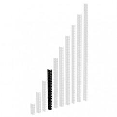 Adam Hall - 61535B8 - Heavy Duty Rack Strip Black 2 mm, 8U