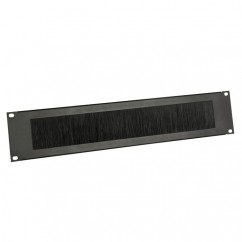 Adam Hall - Rack Panel 2 U steel with Brush Strip