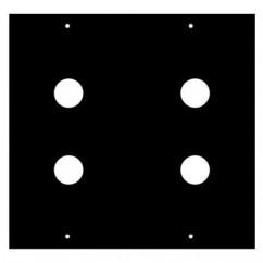 Adam Hall - Modul für 4 x Klinkenbuchse 2/10 2 HE