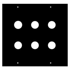 Adam Hall - Module for 6 Jack Socket 2/10 2 U