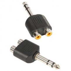Adam Hall - Y-Connector 2 x mono RCA female to 6.3 mm stereo Jack male