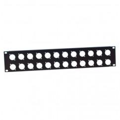 Adam Hall - U-shaped Rack Panel 2 U steel for 24 XLR