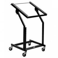 "Adam Hall - 19"" Rack Stand with Castors 12 U + 10 U"