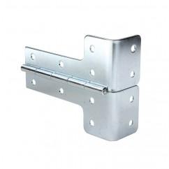 Adam Hall - L-shaped Hinge steel galvanised 5 mm inside radius