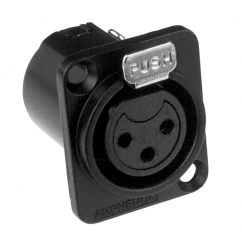 Amphenol AC Series - XLR Socket universal female black